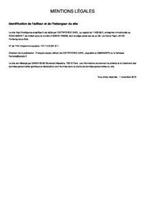 Mentions légales – Sites web